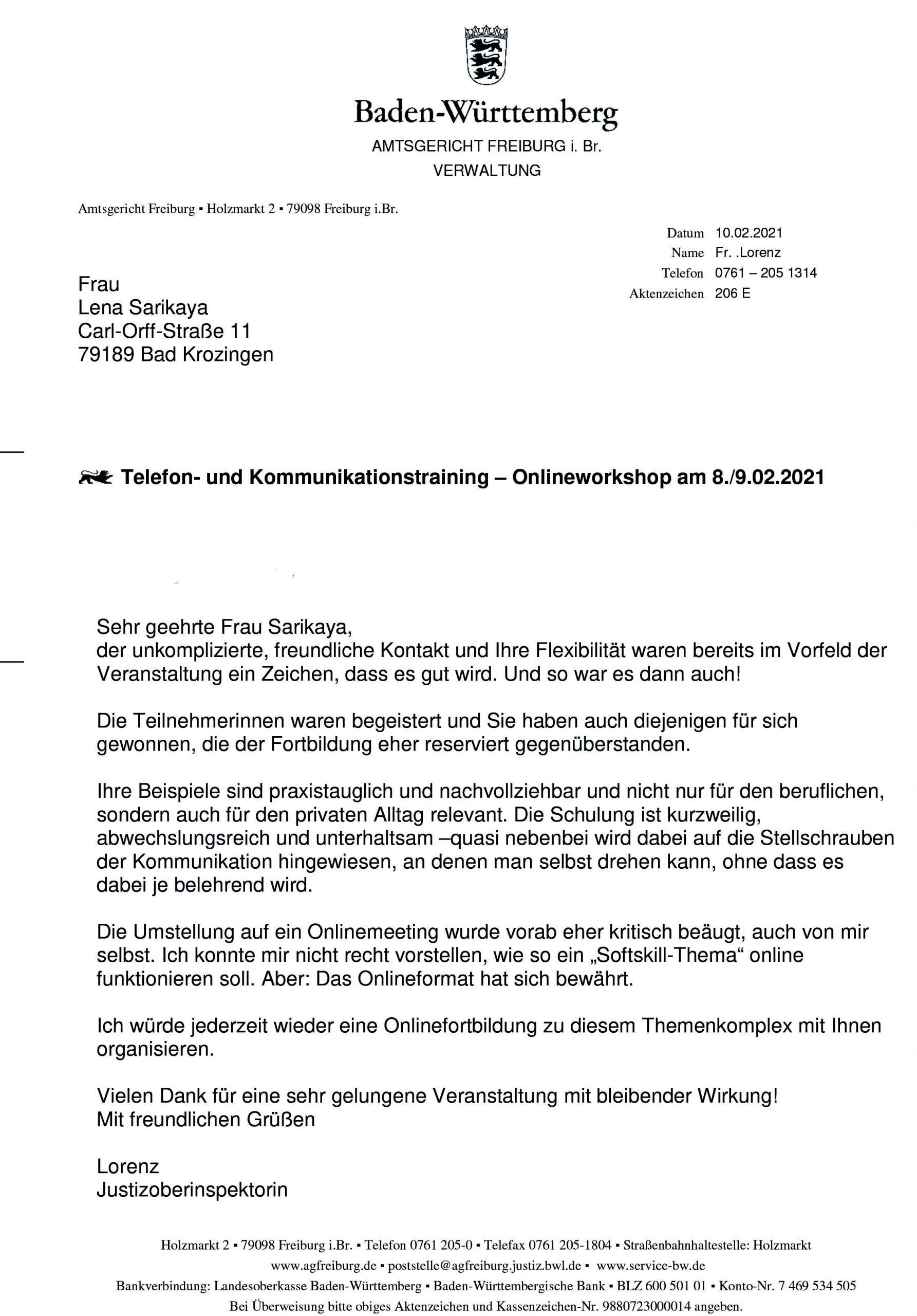 Bild Referenz Amtsgericht Freiburg