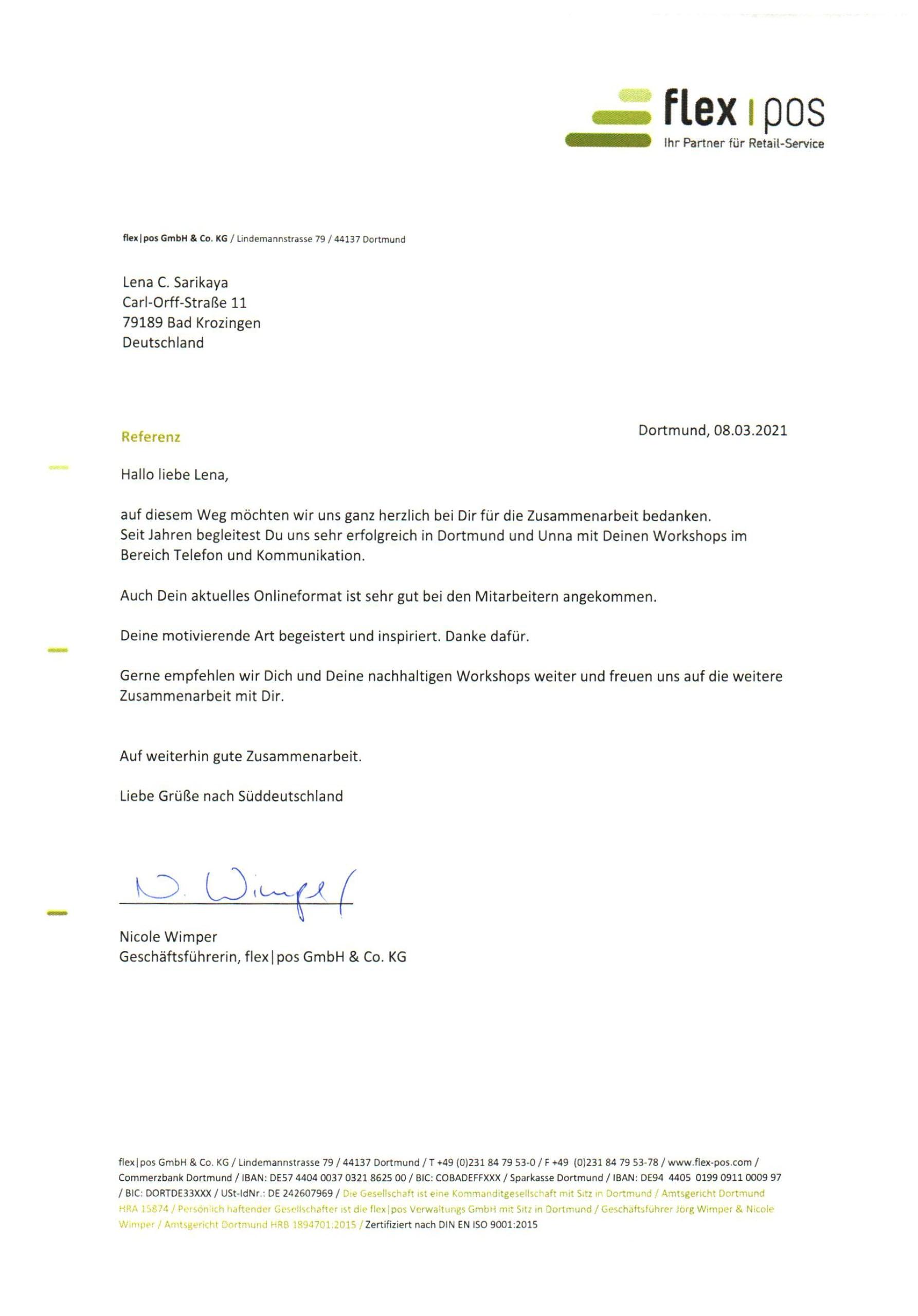 Bild Referenz flex pos GmbH & Co. KG