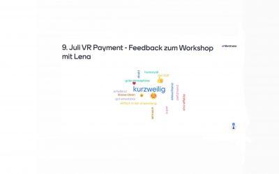 Feedback der Teilnehmenden von VR Payment im Juli 2021